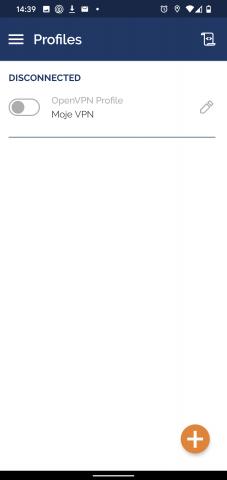 OpenVPN Android - spušťení