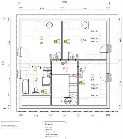 Pi-Home - Modelový příklad chytrého domu 1.NP