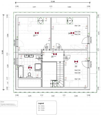 Pi-Home - Modelový příklad inteligentního domu 1.NP