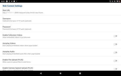 Fully Kiosk Browser nastavení