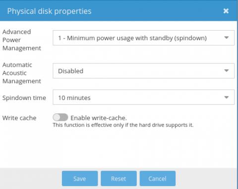 Pi-NAS - autoamtické vypínání disků