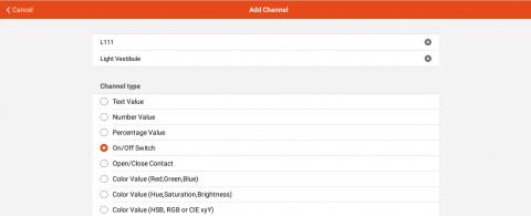 OpenHAB - MQTT Thing Channel
