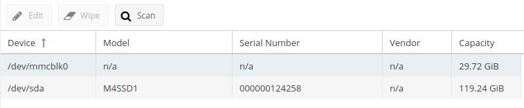 Pi-NAS - Disk settings