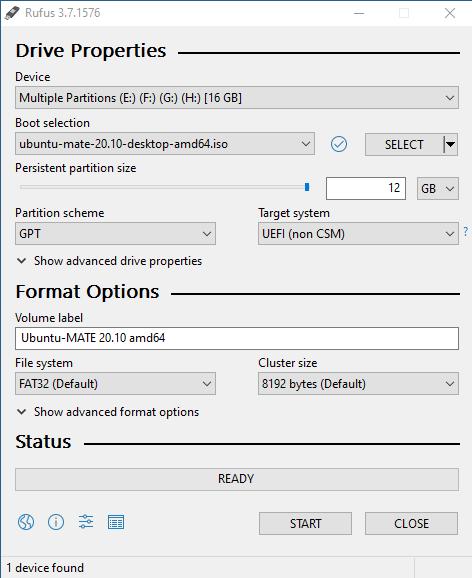Persistent linux live z Windows